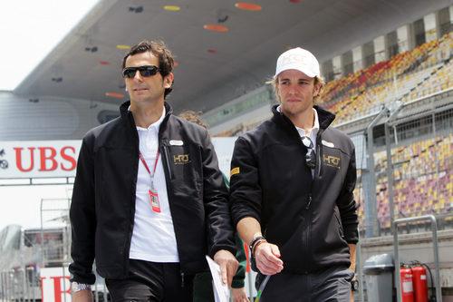 Pedro de la Rosa y Dani Clos en el GP de China 2012