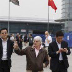 Bernie Ecclestone en el GP de China 2012