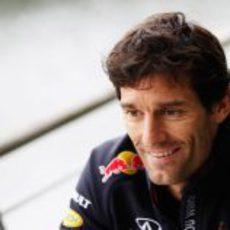 Mark Webber en el GP de China 2012