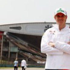 Nico Hülkenberg en el circuito de Shanghai