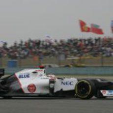 Kamui Kobayashi saldrá tercero en China 2012