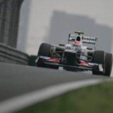Sergio Pérez en la clasificación del GP de China 2012
