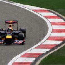 Sebastian Vettel en la clasificación del GP de China 2012