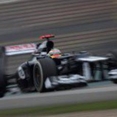 Pastor Maldonado durante la clasificación del GP de China