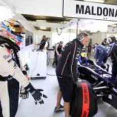 Pastor Maldonado listo para la clasificación del GP de China