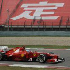 Fernando Alonso durante los terceros libres del GP de China