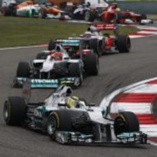 Primera curva del GP de China 2012