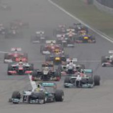 Salida del GP de China 2012