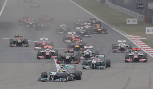 Salida del GP de China 2012