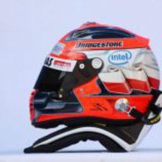 El casco de Kubica