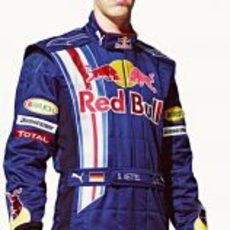 Vettel durante la presentación de Red Bull