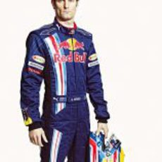 Webber durante la presentación de Red Bull