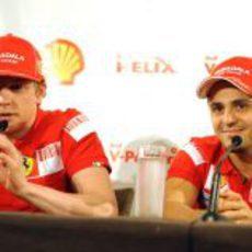 Massa y Raikkonen en Australia