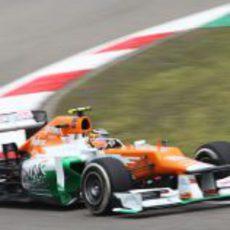 Nico Hülkenberg rueda en la clasificación del GP de China