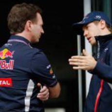 El lenguaje gestual de Christian Horner y Sebastian Vettel
