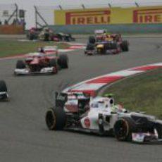 Los dos Sauber ruedan en China