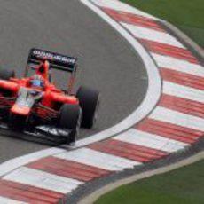 Timo Glock durante la clasificación del GP de China 2012