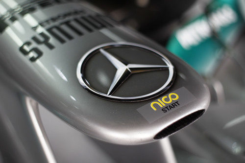 El morro del Mercedes de Nico Rosberg