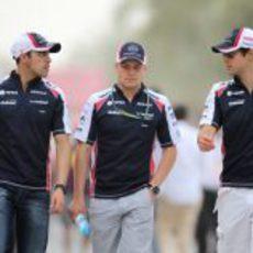 Los tres pilotos de Williams en el Gran Premio de Baréin