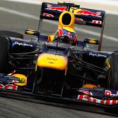 Mark Webber a bordo de su Red Bull RB8 en Sakhir