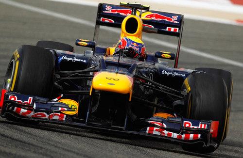 Mark Webber a bordo de su Red Bull RB8 en Sakhir