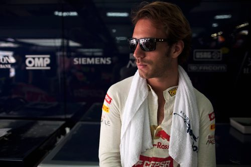 Jean-Eric Vergne durante los segundos libres de Baréin