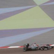 Michael Schumacher durante los libres 3 del GP de Baréin 2012