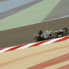 Nico Rosberg rueda en los libres 3 del GP de Baréin 2012