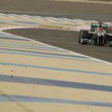 Schumacher en los últimos entrenamientos de Sakhir