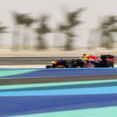 Sebastian Vettel en los libres 3 del GP de Baréin 2012
