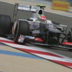 Sergio Pérez en los libres 3 del GP de Baréin 2012