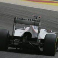Parte trasera del Sauber de Kobayashi en Baréin
