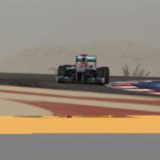 Michael Schumacher en los terceros libres de Baréin