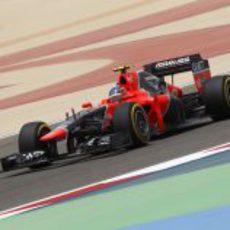 Charles Pic afrontando otra vuelta al Circuito Internacional de Baréin