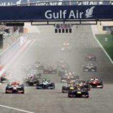 Salida del GP de Baréin 2012