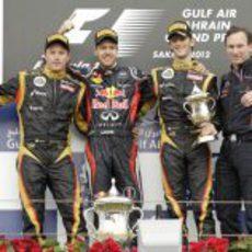 Podio del GP de Baréin 2012