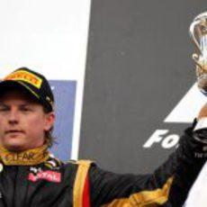Kimi Räikkönen en el podio en Baréin