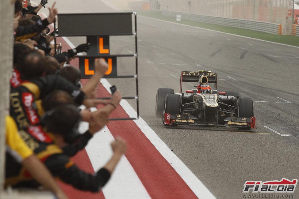 ¡Romain Grosjean al podio!