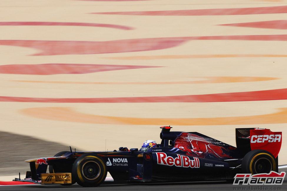 Daniel Ricciardo exprime su STR7 en carrera