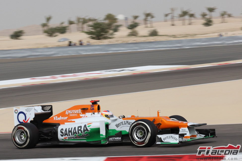 Paul di Resta durante el Gran Premio de Baréin 2012