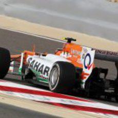 Vista trasera del VJM05 de Nico Hülkenberg en pista