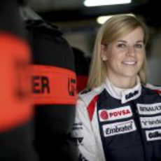 Susie Wolff viajó con Williams a China