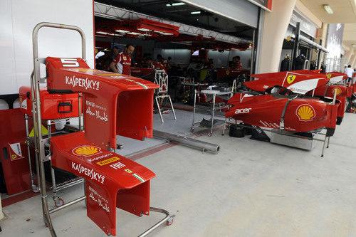 El box de Ferrari en Baréin