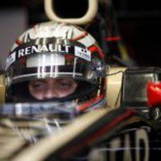 Jérôme D'Ambrosio pilotó para Lotus en los test de Mugello