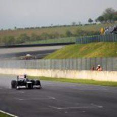 Valtteri Bottas pasa por la recta de meta en Mugello