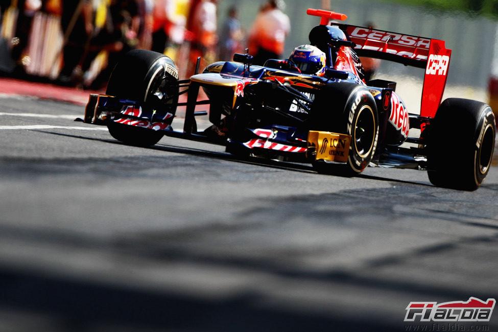 Daniel Ricciardo en acción en Mugello