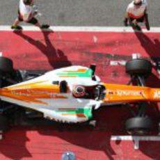 Vista superior del Force India de 2012