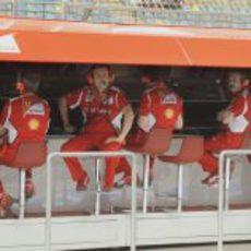 El muro de Ferrari en Baréin