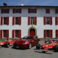 Los Ferrari 312 T4, FF y 126C en Maranello