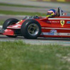 Villeneuve en pista con el 312 T4